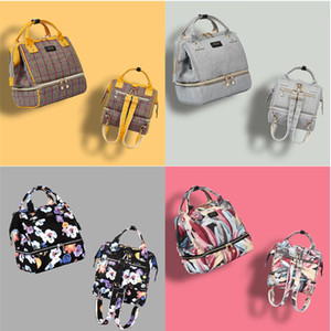1pcs New Mummy Backpacks Floral Polka Dot Printing 11 Colors Baby Diaper Linen PU Mommy Feeding Bags Nappy Mother Maternity Diaper Bags