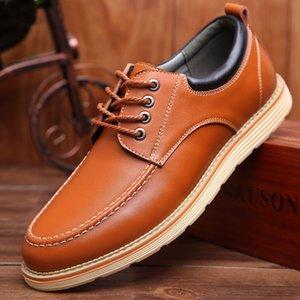 Sapatos masculinos sapatos de couro genuíno elevador para masculino paty prom sapatos de alta qualidade zapatos casuais hombres en cuero sapato