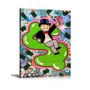 (Unframed / Framed) Alec Monopoly gonflable argent, 1 Pièces impressions sur toile Wall Art Peinture à l'huile Home Decor 24x32.