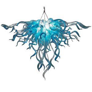 2020 hot sale blue led hand blown glass chandelier lighting living room bedroom home decoration pendant lights