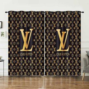 Black White Letter Cortina 2019 Novo Estilo Moda Tratamentos Bedroom Window Shade cortina Valance para homens e mulheres dda