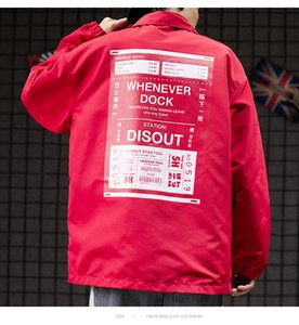 TOP Streetwear Chaqueta Negro Rojo chaqueta de bombardero mujeres de los hombres chaqueta de abrigo Escudo tener en invierno