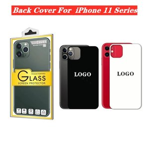 Screen Protectors 9H Tempered Glass Film For iPhone 11 Pro Max 11 Pro 11 Colorful Mirror Back Cover Protector Film With Logo