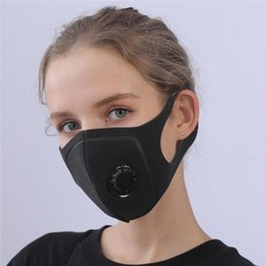 Free DHL Ship!In Stock Realistic Female Ups Shipping ! K Unisex Sponge Dustproof Pm2.5 Pollution Face Mask With Valve Breath Wide Straps