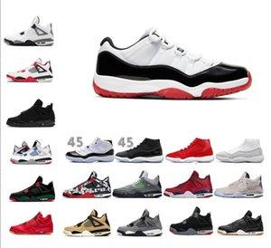 2020 bajo Concord Bred 11 11s Space Jam varsity rojo criado Concord hombre y mujer zapatos de baloncesto 11s zapatilla de deporte de 4 gato negro