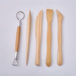 Conjunto de herramientas de barro bricolaje arcilla suave alfarería que forma la herramienta de madera Ceramic Art Talla cuchillo artesanía escultura cera talla herramienta F3194