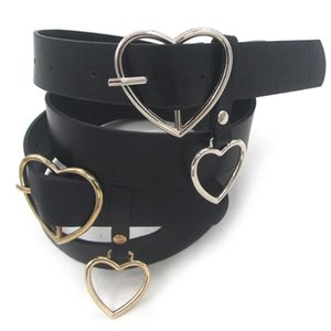 SANWOOD Мода Женского Кожезаменитель металл сердце ремни пряжка Waistband Регулируемого Аксессуар размер 104 см