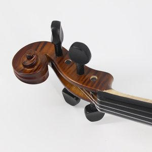 Matte Finish Solid Wood Violin Craft Stripe Violino for Kids Students Beginner Case Mute Bow Strings