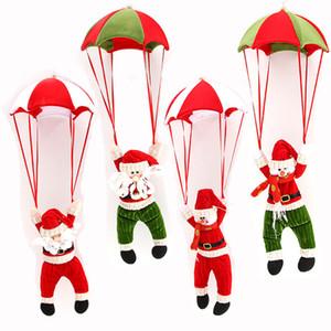 Новая Рождественская елка висячие украшения Парашют снеговика Плюшевые игрушки Санта-Клаус Фаршированные куклы кулон украшение Xmas партии подарка DBC VT1157