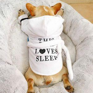 Perro Gato pijamas para perros bathrob ropa de dormir ropa interior suave de la toalla de baño para mascotas de secado para el perrito Perros Gatos para Mascotas