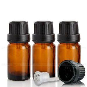 960pcs / lot 10ml Braunglasflaschen Großhandel Glas Tropfflaschen 10ml Mit Euro Dropper Für Ätherisches Öl Aromatherapie Kosmetik Container