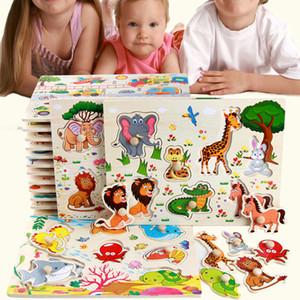 어린이 크리스마스 선물 FY6027에 대한 차일 어린이 만화 동물 Alphabe 나무 퍼즐 교육 장난감과의 상호 작용을위한 나무 퍼즐 장난감