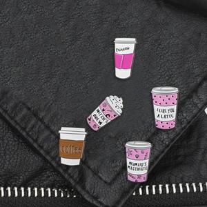 Brew Princesa Emblema Broches lapela Jeans Shirt Jóias presente Backpack leite dos desenhos animados bruxa Pin do café do esmalte de amantes do café