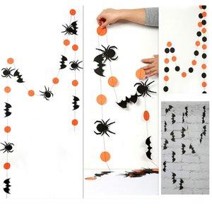 هالوين الديكور 4 متر طويلة شنق الحلي ل العنكبوت بات اليقطين سحب زهرة الجدار ملصق diy العلم XD20157