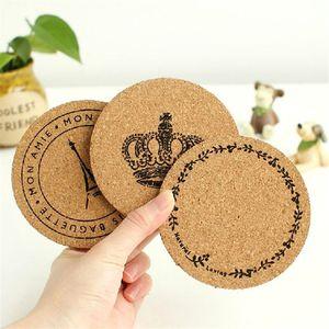 New Plain Round Cork Coaster Placemat Drink Cup Mat Tea Pad Wooden Tablemat Bowl Pad Pot Mat Heat Insulation