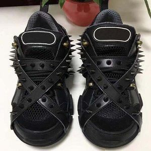 Spikes Flashtrek Sneaker mit Nieten Abnehmbare Spikes Mens Cowboy Schuhe arbeiten beiläufigen Frauen AF9 Turnschuhe