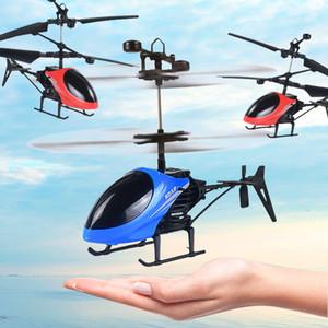 Rc helicóptero d-715 mini helicóptero de controle remoto multifuncional voando helicóptero brinquedos para crianças piscando zangão