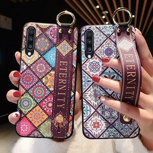 2020 teléfono de diseño del caso para Samsung Galaxy A50 A70 A30 A20 A10 S8 S9 S10 Plus Nota 8 9 10plus A40 A60 S10e correa de muñeca sostenedor del teléfono Casos