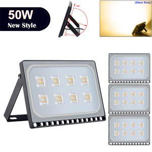 Ultraslim 야외 조명 50W LED 홍수 조명 2800-3500K 따뜻한 흰색 빛 LED 프로젝트 램프 야외 보안 조명 110V 뜨거운 판매