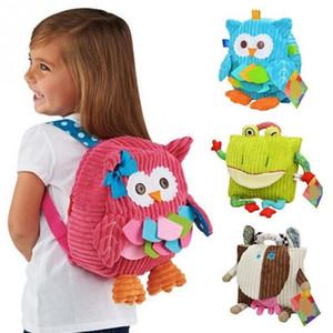 Neue nette Karikatur Soft Owl Affe Tiere Rucksack Spielzeug für Plüsch Haspe Baby Taschen Schulranzen Kinder