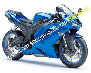 For Kawasaki ZX-6R 07 08 Ninja ZX636 ZX 6R 636 ZX6R 2007 2008 Blue Body Works ABS Fairing Set (Injection molding)