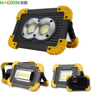 Haoxin LED Refletor 20W carregamento USB LED Projector Spotlight DC5V 18650 Rechargeable Battery Powered portátil Led holofote acampamento