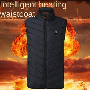 pnZNG 2020 novo carregamento tesouro elétrica USB Seguro quente Intelligent Charger colete constante de aquecimento de temperatura terno colete de aquecimento de algodão dos homens