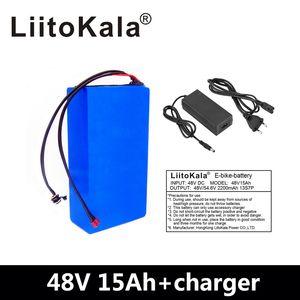 Liitokala 48V 15AH аккумуляторная батарея 48V 15AH 1000W электрическая велосипедная батарея 48V литий-ионная батарея 30А BMS и 2A зарядное устройство