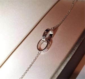 Collier célèbres 925 femmes collier en cristal d'argent sterling bijoux délicats unique quotidien des cadeaux de Noël