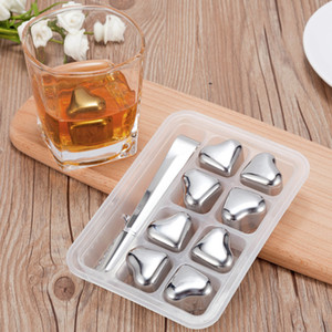New Sweetheart Design Bar Ice Cube Stainless Steels Magic Ice Stones Whiskey Wine Kitchen Supplies Cheap Bar Tools