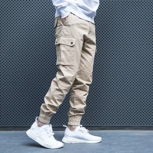 Fashion Streetwear Men Jeans Loose Fit Khaki Casual Cargo Pants Slack Bottom Designer Hip Hop Joggers Pants Men Harem Trousers