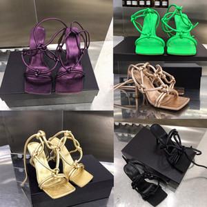 Designer Flip Flops cuir sandales à lanières 2020 nouvelles chaussures habillées femme de mariage d'été à talons hauts sandales femmes de luxe de la mode de créateurs