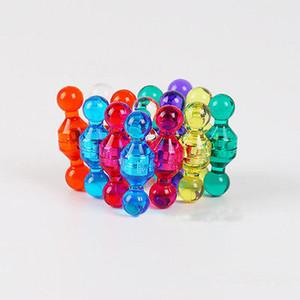 Hot Moda translúcido Pequenas Push Pins Fridge Magnet bonito alto grau cores sortidas Ímãs
