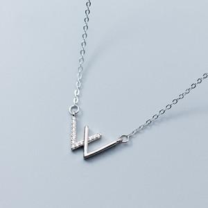 Nova Moda Modelos de Explosão Coreano Mulheres Flash Cz Diamante Anti Allérgico 925 Sterling Silver Gargantilha Colar W Delicate Jewellry