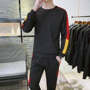 19 yeni Triko / erkek kazak elbise eğlence takım elbise erkek ilkbahar ve sonbahar spor sonbahar Kore versiyonu erkek öğrenci eğilim spor kiti uyacak