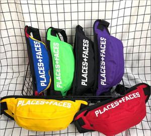 LUGARES + FACES Hip Hop-Pocket 3M reflexiva Peito Pacote Rua Skate Casal Shoulderbag Waistbag P + F Carteira Tide Marca Crossbody Bag