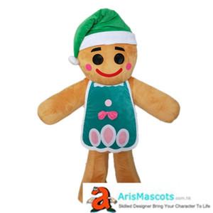 Gingerbread Man costume de mascotte pour la fête de Noël mascotte Aris Made Mascots Robe Carnaval Mascots vacances Mascots Deguisement Mascotte