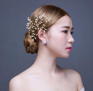 Nuevos Accesorios para el cabello nupcial Perlas Novia Cabello Perlas Prendedores Vestidos de novia Accesorio Encantadora Espiga de trigo Tocados Horquillas para el cabello