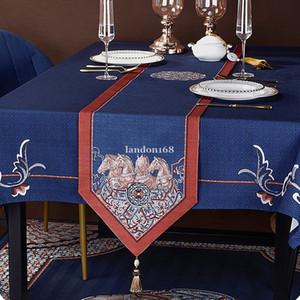 High-Level-Ausgangsdekoration Fashional Tischläufer Top Qualität Moderne Quaste Tischläufer amerikanische Retro-Tischdecke