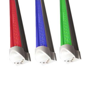 에서 Colorfull 빨간색 녹색 파란색 노란색 컬러 더블 행 클리어 커버 T8 LED 튜브 조명, 투명 커버, 통합 더블 LINNER 바 점등