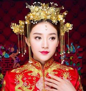Bride alte Kostüm-Kopfschmuck Phoenix Crown Haarschmuck Hochzeit Schmuck