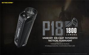 NITECORE P18 1800 Torch Lumens Lei engrenagem LED White Light Red CREE XHP35 HD Enforcement Pesquisa Outdoor Camping Lanternas