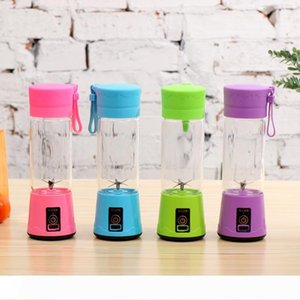 A 400ml 6 Blades Portable Mini Electric Juicer USB Rechargeable Juice Cup Fruit Juice Maker Cup WB1826
