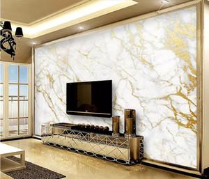 Пользовательские обои настенная роспись золото шелк джаз белый мрамор обои домашнего декора обои для гостиной papel de parede