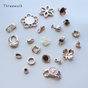 100 pz / lotto Misto Desig Collana End Tip Nappa Caps Beads Connect Cap Per monili di modo che fanno DIY Handmade Jewelry Finding