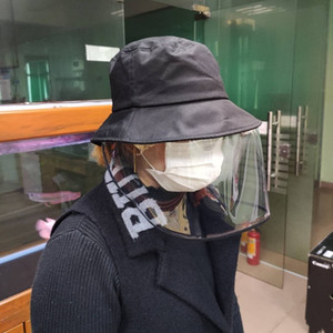 PVC 보호 한국 마스크 모자 마스크 주방 스플래쉬 오일 자전거 방우 접이식 보호 얼굴 안티 - 안개 재채기 헤드 기어 마스크 마스크