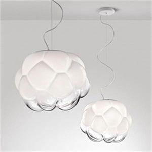 Bulle de verre nordique pendentif boule Lumières Hanglamp Décor Loft Industriel Nuages suspendu Lampe suspension Décoration Cuisine Équipement
