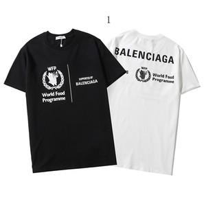 Erkekler Kadınlar Designered Gömlek Yaz Yeni Lüks Tişört Kısa Slevee Erkek Üst Tees Markalı Gömlek Harf Baskılı 2020313K