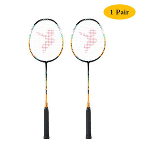 Professional 2 Player Badminton Bat Replacement Set Ultralight Carbon Fiber Badminton Racquet with Bag Raket