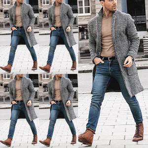 2019 модный тренд мужская британская повседневная шерстяная тренч куртка верхняя одежда длинное пальто Пальто зима новейшая теплая Деловая роскошная одежда